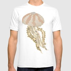 Jelly Paper #2 SMALL Mens Fitted Tee White