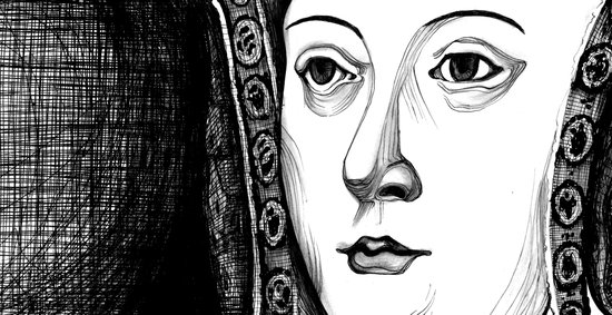 Queen Katherine of Aragon Portrait  Art Print