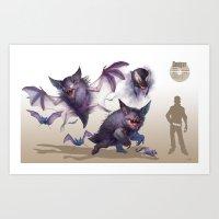 Pokemon-Gengar Art Print