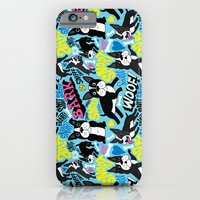 iPhone Cases featuring Boston Terrier Pattern by Chris Piascik