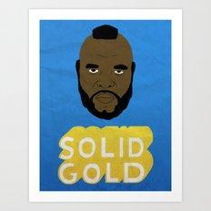 Solid Gold Art Print