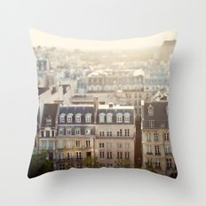 Dans Mon Reve de Paris Throw Pillow