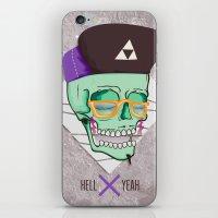Hell Yeah Skull 3 iPhone & iPod Skin