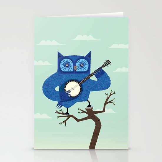 The Banjowl Stationery Card