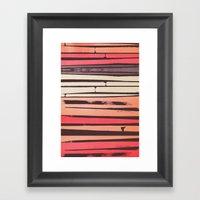 Peach 'N Creme Framed Art Print