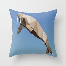 Geometric Walrus Throw Pillow