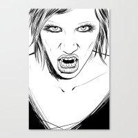 Vampire Lady Canvas Print