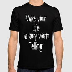 Life Story SMALL Mens Fitted Tee Black