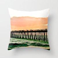 Hermosa Pier (1) Throw Pillow
