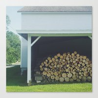 Wood Stack Canvas Print