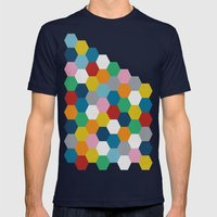 Honeycomb 2 Mens Fitted Tee Navy SMALL