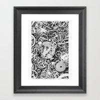 Bits Of The Work Framed Art Print