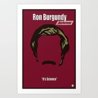 Ron Burgundy: Anchorman Art Print