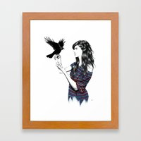 Dark Wings Framed Art Print