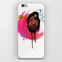 Fat Bird Demands Cake iPhone & iPod Skin