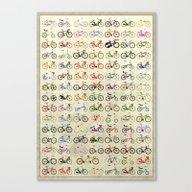 Canvas Print featuring Bikes by Wyatt Design