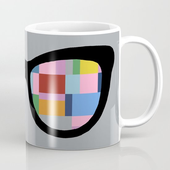Square Eyes on Grey Mug
