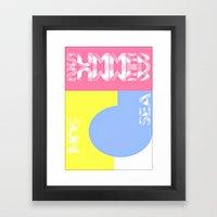 Summer. Sun. Sea Framed Art Print