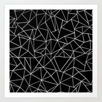 Abstraction Outline Blac… Art Print