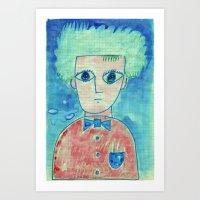 Grid Boy Art Print
