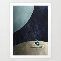 The Space Gardener Art Print