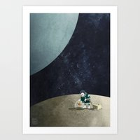 The Space Gardener Art Print
