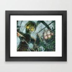 Bioshock Big Daddy & Lit… Framed Art Print