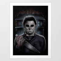 Halloween Michael Myers Art Print
