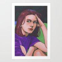 Claire D. Art Print