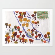 Map of the Woods Art Print