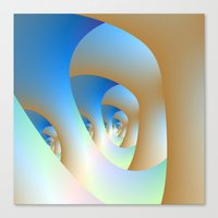 Blue Labyrinth Canvas Print