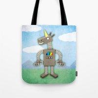 Unicorn Robot Tote Bag