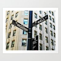 Broadway Meets Wall Street Art Print