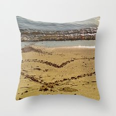 lovely sand Throw Pillow