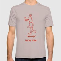 Have Fun Mens Fitted Tee Cinder SMALL