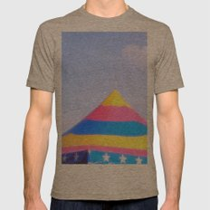 Circus tent Mens Fitted Tee Tri-Coffee SMALL