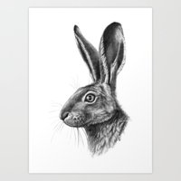 Hare Profile G138 Art Print