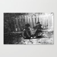 Drunk and Son Canvas Print