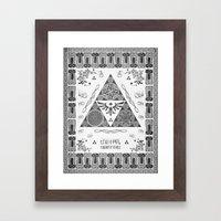 Legend Of Zelda Kingdom … Framed Art Print