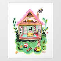 Rebecca Rabbit, Her House, and Her Belongings Art Print