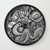 White Knuckled Scream Wall Clock
