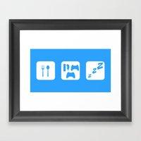 Eat. Game. Sleep Framed Art Print
