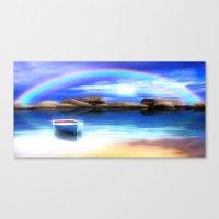 Unter dem Regenbogen Canvas Print
