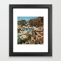 waterfront property Framed Art Print