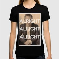 Alright Alright Alright Womens Fitted Tee Black SMALL