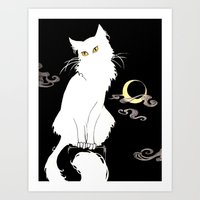 Le Chat Blanc Art Print