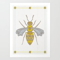 Mr Bee Art Print