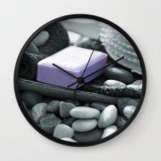 A fresh bath to relax Wall Clock