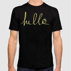 Hello x Sunshine Mens Fitted Tee Black SMALL