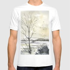 Winter Sky SMALL White Mens Fitted Tee